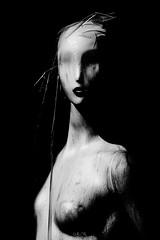 The black Widow (Gilles B. Photographe) Tags: voile noiretblanc handkerchief art transparence transparency design monochrome bw blackandwhite nb abstract