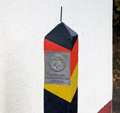 East german border stone (Schwanzus_Longus) Tags: sorge german germany east ddr gdr border stone