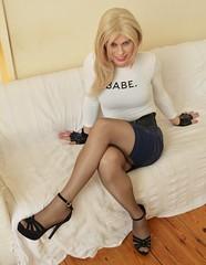 Babe not abe (Miss Nina Jay) Tags: tights heels