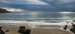 Silver Sea (richtyndall) Tags: dunworley beach rain raincloud silver sea westcork cork ireland wildatlanticway richtyndallgmailcom