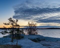 Sunrise and some clouds. (envall.magnus) Tags: sunrise clouds water sea ocean sky archipelago scandinavia europe sweden sverige österåker åkersberga skeppsdal canon