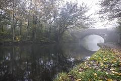 Bridgewater canal (Lukasz Lukomski) Tags: runcorn cheshire canal bridgewatercanal fog morning landscape path bridge uk unitedkingdom england greatbritain nikond7200 sigma1020 longexposure lukaszlukomski merseyside