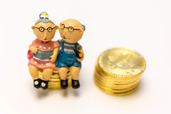Bitcoins next to a retired couple - invest in your pension (verchmarco) Tags: money freedom opa deby rentner vorsorge vermögen bitcoin sparen oma savings pension geld pensioner 401k wood fun toy child little traditional kind achievement precious luck conceptual figurine holz porcelain currency spielzeug isolated figur stacks wealth porzellan traditionell artsandcrafts glück stapel spas wenig reichtum währung noperson wertvoll leistung keineperson isoliert ersparnisse kunstundhandwerk konzeptionelle 2021 2025 2022 2020 2019 2024 2023