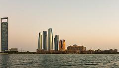 Adnoc, Etihad Towers & Emirates Palace September 2019 (Bluebullet1) Tags: uae sunset corniche sky outside water sun landscape city light buildings sea blue colour