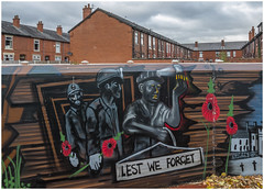 Leigh murals, Sportsmans Street (Pitheadgear) Tags: remembrance mine mines mining pit pits collieries art murals graffii leigh parsonagecolliery lancashire miningindustry miningart mininghistory uk england coal coalmining miner miners coalminers