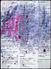Arbeit 73 (Harald Reichmann) Tags: zeitung papier farbe preiselbeeren