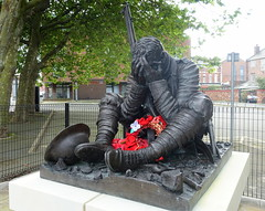 Wilfred Owen statue in Birkenhead dedicated to the 88 Old Boys of Birkenhead Institute (Tony Worrall) Tags: remember war soldier sculpture statue bronze sad poppy flower november dead rememberence past warttime wirrall birkenhead merseyside politics welovethenorth nw northwest north update place location uk england visit area attraction open stream tour photohour photooftheday pics country item greatbritain britain english british gb capture buy stock sell sale outside outdoors caught photo shoot shot picture captured ilobsterit instragram wilfredowenstatue armisticeday