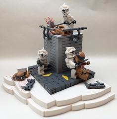 16.2: Destruction of Vandos Prime (Bric_) Tags: lego star wars 253rd legion moc clone troopers hammer greek inspired