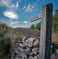 Gildersbeck. (christopherhogg1) Tags: chrishoggsphotos gildersbeck farm footpathmarker coverdale yorkshiredales summer fields wall drystone yorkshire