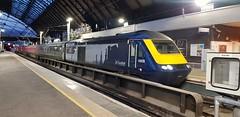 Abellio Scotrail Class 43 43035 sitting in Glasgow Queen Street Platform 7 having just arrived in with service 1T26 (09-11-19) (Rikki Cameron) Tags: trains abellio scotrail inter7city class43 hst powercar 43035 express aberdeenglasgow glasgowqueenstreet 1t26 exgwrmk3s coachsetha06