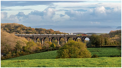 Another angle (Mark Gowing) Tags: 70808 porthkerry porthkerryviaduct class70 cementtrain freight