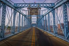 John A. Roebling Suspension Bridge (joshuay04) Tags: nikonz6 nikon ohio cincinnati bridge river water johnaroeblingsuspensionbridge nikkor 2470mmf4 digital mirrorless suspension roadtrip kenticky blue bridgeingthegap roadtothenorth