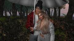 Rainy Day (antoniohunter55) Tags: signature gianni maitreya bento ctawa secondlife sl nomatch hair rain tree lwbentoposesundermyumbrella couplespose