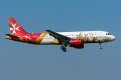 "9H-AEO - Air Malta - Airbus A320-214 - ""Valletta - European Capital of Culture 2018"" special colours (5B-DUS) Tags: 9haeo air malta airbus a320214 vallettaeuropeancapitalofculture2018 special colours a320 ams eham amsterdam schiphol airport airplane aircraft aviation flughafen flugzeug planespotting plane spotting"