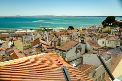 Tagus Estuary, Lisbon (louys:) Tags: leicaqp alfama cityscape wideangle lisbon primelens roofs tagus estuary mural grafitti