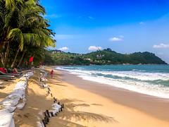 Thong Nai Pan Noi Beach, Koh Pha Ngan (Bluebullet1) Tags: sea landscape blue outside city water colour beach sun sky outdoors