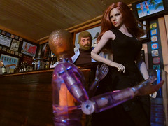 Taking a chance..., (Blondeactionman) Tags: bamhq agents bam one six scale doll phicen action figure photography snapshots diorama playscale natasha muton joe ammo arms pub
