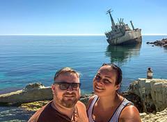 Edro III Shipwreck, Paphos (Bluebullet1) Tags: colour boat nature outside water sea blue landscape