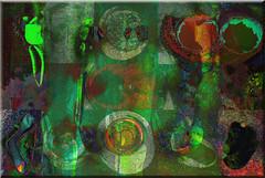 Juegos (seguicollar) Tags: art arte artedigital texturas virginiaseguí imagencreativa photomanipulation botones círculos formas verde green
