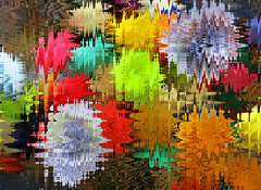 Mums the Word (kfocean01) Tags: flowers flower nature abstract art photomanipulation photoshop icm novemberstreaks intentionalblur streaks