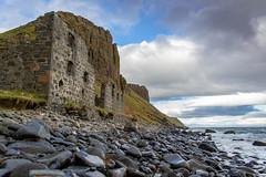 Inver Tote, Skye (gavin446) Tags: ruin coast pebble rock building cliff sea wave brick scotland invertote tote shoreline colour picture photo cloud blue history