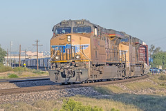 Union Pacific 7872 leads 5395 and an eastbound freight train departing Tucson Yard a few minutes before UP Big Boy 4104 on the morning of October 19, 2019 (Ivan S. Abrams) Tags: unionpacificbigboy4014 steamlocomotive bigboy 4884 tucson arizona pimacounty bensonarizona bowiearizona tucsonarizona sunsetroute southernpacific cochisecounty alco trains