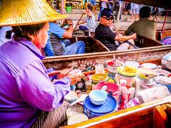 Boat Shops at Damnoen Saduak Floating Market (Bluebullet1) Tags: colour boat nature outside water sea blue landscape