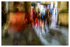 """""""Confidence to Stride"""" (1 of 1) (ianmiddleton1) Tags: glasgow red icm movement composite blur"""