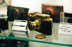 Wow! A real gold plated Leica II! (mkk707) Tags: film analog 35mmfilm leicaflexsl2 leicasummicronr50 kodakektar100 wwwmeinfilmlabde germancameras itsaleica vintagelens vintagefilmcamera funchal madeira portugal rangefinder russiancamera