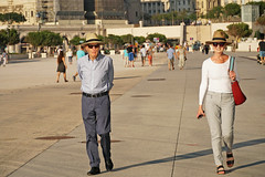 Promenade Robert Laffont - Marseille (France) (Meteorry) Tags: europe france paca provencealpescôtedazur provence bouchesdurhône marseille people candid streetscene promenaderobertlaffont mucem woman man homme gentleman femme madame summer été sunglasses hat smile august 2019 meteorry