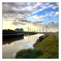 Dunkirk (Mr JM BURT) Tags: artmoderne musée pancake 40mm pentax nuages rivière pont port mer carré nord dunkerque frac