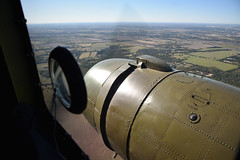 """View from """"That's All, Brother"""" (2) (Ian E. Abbott) Tags: thatsallbrother douglasaircraft douglas c47a c47 dc3 skytrain dakota 4292847 12693 n47tb commemorativeairforce caf centraltexaswing wingsoverdallas krbd rbd aerials outthewindow"""