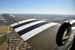 """View from """"That's All, Brother"""" (1) (Ian E. Abbott) Tags: thatsallbrother douglasaircraft douglas c47a c47 dc3 skytrain dakota 4292847 12693 n47tb commemorativeairforce caf centraltexaswing wingsoverdallas krbd rbd aerials outthewindow"""