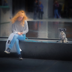 WhatsApp'ing the dog (Fr@ηk ) Tags: travel dog norway norge redhair img9502 mrtungsten62 street europe message cellphone app frnk canon6d whatsapp bergen world city blue portrait people woman pet motion cute water girl face fashion animal lady fun person shoe clothing jumping holding sitting child looking friendship leg performance canine jeans human footwear denim flooring streetfashion companiondog leica sunset sea sun beach zeiss nikon adult country pond tight texture grain atmosphere romantic mood cane ginger teen hair