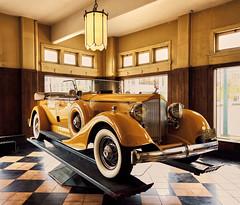 1934 Super Eight Sport Phaeton (joanne clifford) Tags: supereightsportphaeton phaeton packard americaspackardmuseum packardmotorcarco automobiles classiccars fujifilm xe3 xf16 orello 1104dualcowlsportphaeton 1930s packardpelican yellow orange
