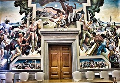 Jefferson City  Missouri ~ State Capitol  ~  The House Lounge - Mural (Onasill ~ Bill Badzo - 67 M) Tags: jeffersoncity mo missouri bento room lodge murals houselounge public art tour state capitol thomashartbenton bentonroom benton visitors attraction history travel vacation house onasill building indoor architecture mural painting governors reception guided self attractionsite vintage old photo slaves song city jefferson people