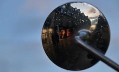 Contre-miroir ! (Tonton Gilles) Tags: alençon normandie grande rue ombres silhouettes personnages nuages rétroviseur reflets ciel bleu bokeh paysage urbain