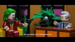 """You get what you f*cking deserve!"" (Joker"") (Eddy Plu) Tags: lego legography minifigure batman joker murray franklin murrayfranklinshow jokermovie joaquin phoenix joaquinphoenix toddphillips scene moc gotham"