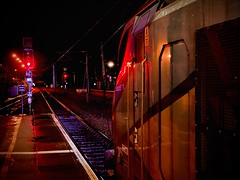 Interzone (sjpowermac) Tags: interzone nova3 express red signal rain splendid 68027 york pause puddles light