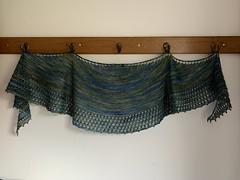 Firemore shawl (What I saw...) Tags: handknit knitting knit yarn wool cosmic strings yak spindrift shawl helen stewart