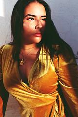 (sarrajaoui13) Tags: photography velvet photoshoot shooting modeling model yellow glow highlight glitter play shadow sun light time golden closeup portrait women girl woman