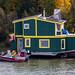 Houseboat, Yellowknife, Great Slave Lake, NWT