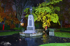 The Cenotaph, Darlaston 09/11/2019 (Gary S. Crutchley) Tags: remembrance sunday peace tree bloxwich darlaston cenotaph great war world one two ii i 1 2 second uk britain england united kingdom urban town townscape walsall walsallflickr walsallweb black country blackcountry staffordshire staffs west midlands westmidlands nikon d800 history heritage local night shot nightshot nightphoto nightphotograph image nightimage nightscape time after dark long exposure evening travel street slow shutter raw