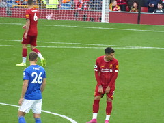 Preparing for the second half (lcfcian1) Tags: liverpool leicester city lfc lcfc anfield stadium epl bpl premier league sport football liverpoolfc leicestercity liverpoolvleicester premierleague stadia