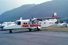HB-LPC   Dornier Do.228-201 [8066] (Sunshine Aviation) Lugano~HB 11/09/1991 (raybarber2) Tags: 8066 alpechacollection cn8066 filed flickr hblpc lsza negative planebase propliner swisscivil