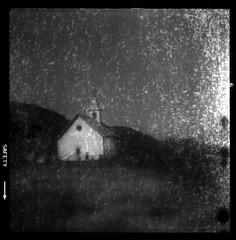 The Vanishing Chapel (Chuck Baker) Tags: alternative analog abandoned architecture blackandwhite building blackwhite believe brownie camera church darkroom door death doors eastman film field flip flipped hawkeye history hall kodak kerkje lomography lomo life love lens light monochrome notechography old outdoor outdoors orthochromatic photography photograph plastic peace rural rangefinder religion surreal windows window wall wind expired z