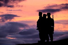 Commando Memorial (OutdoorMonkey) Tags: memorial warmemorial statue monument bronze commando commandos commandomemorial lochaber scotland speanbridge highlands sunset evening worldwarii worldwar2 remembrance listedmonument outside outdoor scottsutherland silhouette