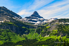 Across the valley there is a peak (Twisted Lens) Tags: montana peak nature mountain nikon 1635mm glacier sky waterfall d850 park