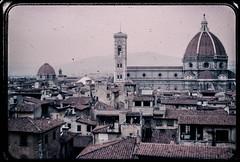 Florence 1960 (Bobbex) Tags: italia italy firenze landscape cityscape city urban renaissance building duomo church dome catholic cathedral skyline 1960s