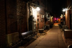 Back Alley Moline [Explored] (Oliver Leveritt) Tags: moline illinois night nikond610 afsnikkor2470mmf28ged oliverleverittphotography alley